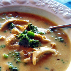 Very Cheesy Chicken Broccoli Cheese Soup