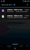 Screenshot of seNotes Plus - notes widget