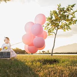 The future is here by Yansen Setiawan - Babies & Children Babies ( birthday, park, children, kids, baby, balloon, toddler )
