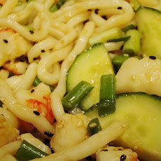 Udon Noodles With Citrus Vinaigrette