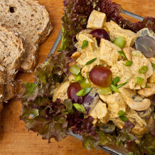Curried Chicken Salad with Grapes and Cashews