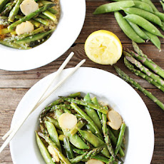 Spring Vegetable Stir Fry with Lemon Ginger Sauce