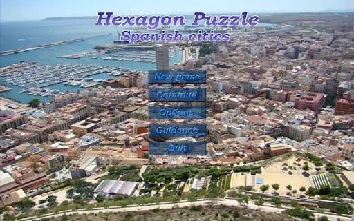 Hexagon Puzzle - Spain