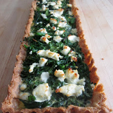 Mostly Broccoli Goat Cheese Tart