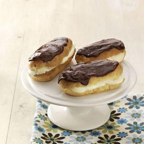 Holiday Eclairs With Chocolate Peppermint Ganache Recipe ...
