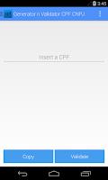 Screenshot of Generator n Validator CPF CNPJ