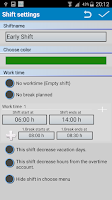 Screenshot of Shift Wage Planer Trial