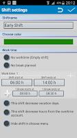 Screenshot of Shift Merit Planer Trial