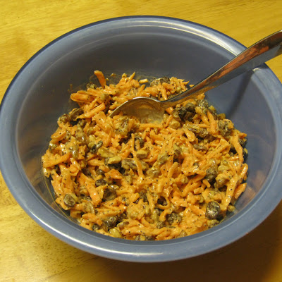 Carrot and Raisin Slaw with Homemade Poppy Seed Dressing