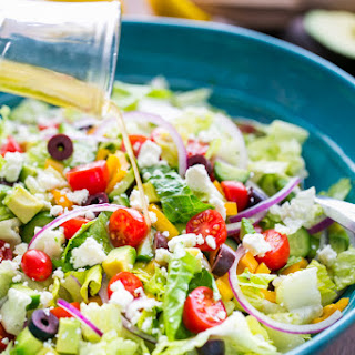 Greek Salad with Easy Zesty Dressing