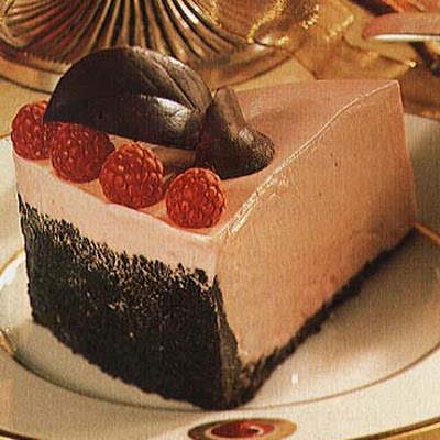 Frozen White Chocolate and Raspberry Mousse Torte