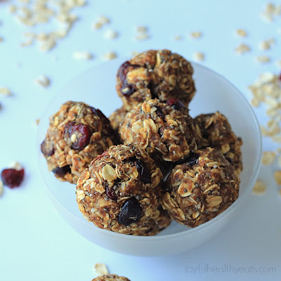 No Bake Pumpkin Spice Energy Balls