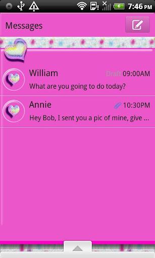GO SMS THEME PolkaDotFur4U