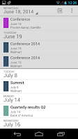 Screenshot of Financial Calendars Sync