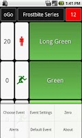 Screenshot of oGo Orienteering Start Timer