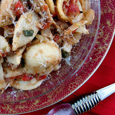 Crockpot Mediterranean Chicken Ragù with Orecchiette