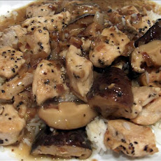 Peppered Chicken With Lemon-mushroom-wine Sauce