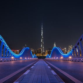The way to Dubai by Walid Ahmad - Buildings & Architecture Bridges & Suspended Structures ( dubai, d800, uae, best, travel, bridge, landscape, nikon, city, colorful, mood factory, vibrant, happiness, January, moods, emotions, inspiration )