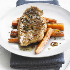Maple & Pepper-glazed Chicken With Roasted Carrots
