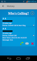 Screenshot of Who's calling?