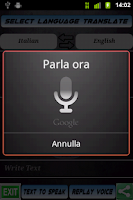 Screenshot of Speak Gate Traduttore Voce