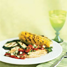 Grilled Fish with Cucumber-Tomato Salsa