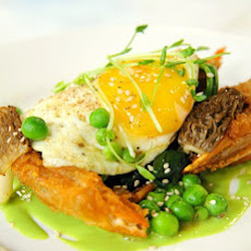 Crispy Soft-Shell Crabs with Pistou and Soft Fried Eggs