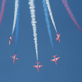 Red Arrows by Dennis Salmon - Transportation Airplanes
