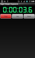 Screenshot of Super Simple Stop Watch