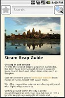 Screenshot of Siem Reap Travel Guide