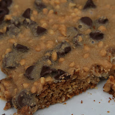Lower Fat Peanut Butter Chocolate Chip Bars
