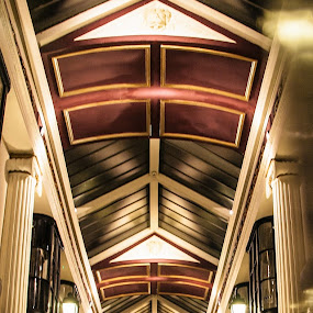 Arcade by Andro Andrejevic - Buildings & Architecture Other Interior ( interior, night photography, nightshoot, arcade, golden light )