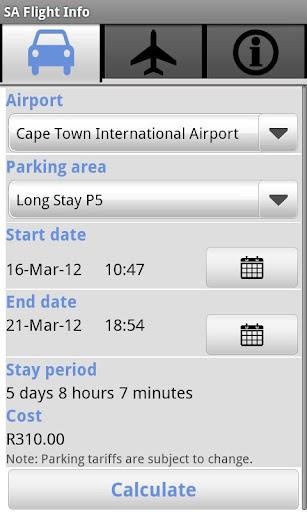 SA Flight Info