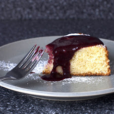 Lime Yogurt Cake With Blackberry Sauce