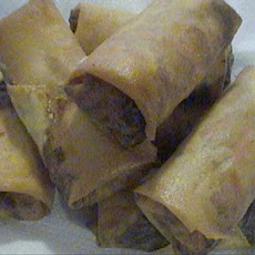 My Very Own Spring Rolls With Peanut Sauce