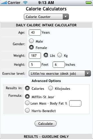 Calorie counting weight loss