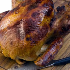 Brined and Barbecued Turkey