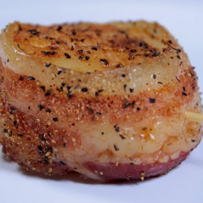 Bacon Wrapped Smoked Sea Scallops
