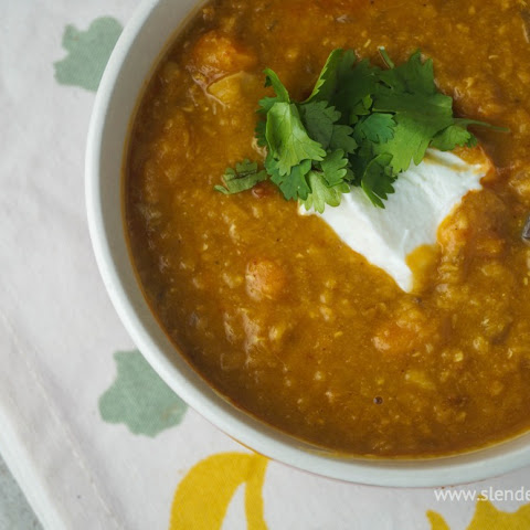 Red Lentil, Curry, and Carrot Stew