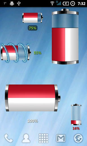Indonesia- Flag Battery WIdget