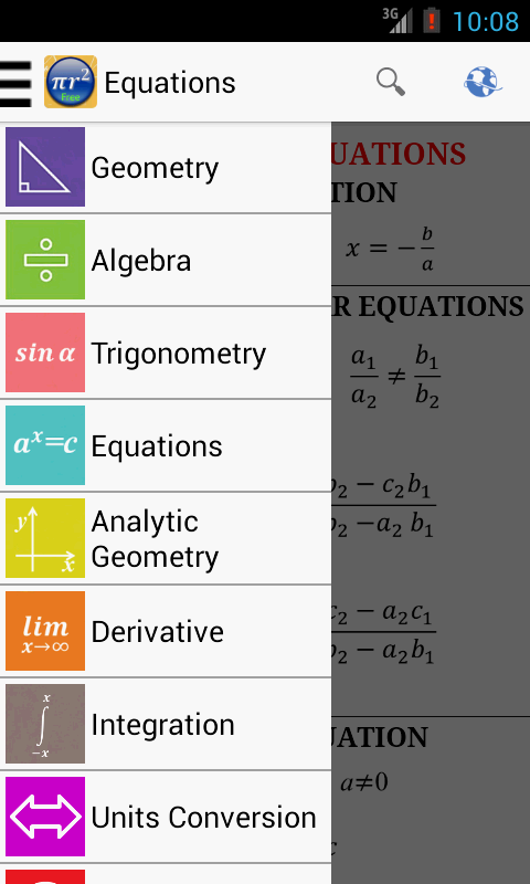 Maths Formulas Free Screenshot 0
