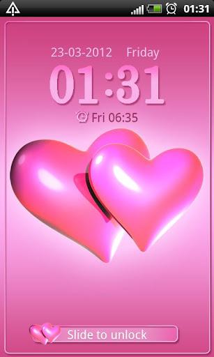 Hearts pink Go Locker theme