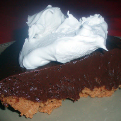 Chocolate Pie with Peanut Butter Crust