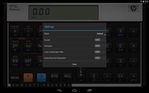 HP 12C Platinum Calculator - screenshot