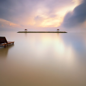 Mirror Sea by Eggy Sayoga - Landscapes Waterscapes ( karang, bali, indonesia, sanur, beach )