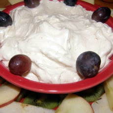 Eggnog Cream Cheese Dip W/Fresh Fruit Wreath