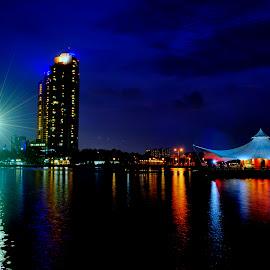 Jakarta by Max Bowen - City,  Street & Park  Night