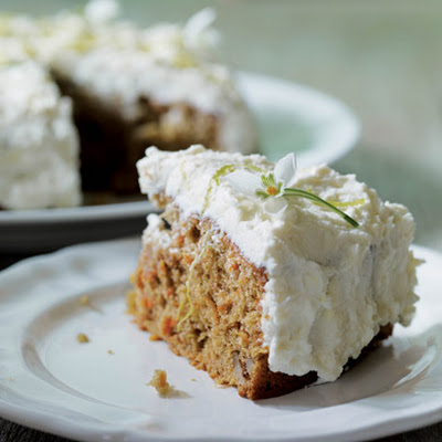 Carrot Cake with Lime and Mascarpone Topping