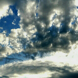 by Rudy Mendoza - Landscapes Cloud Formations ( clouds, blue, beautiful, cloudscape, gray )