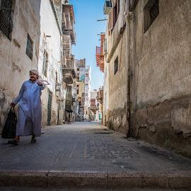 Leaving by Donald Curtis - City,  Street & Park  Historic Districts ( ksa, jeddah )